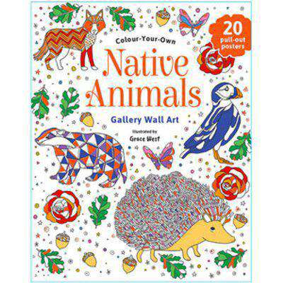 Colour Your Own Native Animals Wall Art