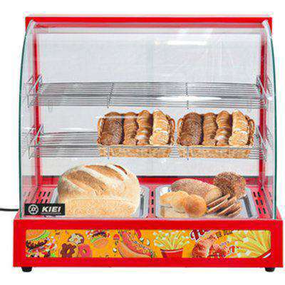 Commercial Food Warmer Glass Display Cabinet - Red