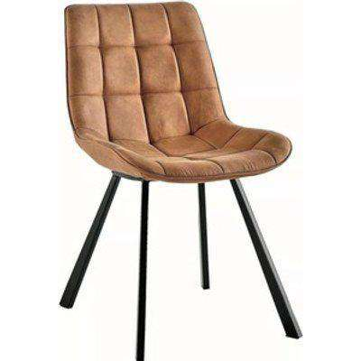 Contemporary Design Dining Chairs in Light Brown Colour Set of 2 - Brown