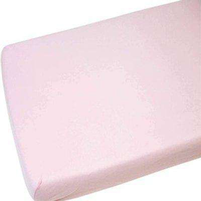 Cot Bed Cotton Fitted Sheet Pack of 2 - Pink