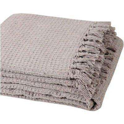 Cotton Honeycomb Chair Sofa Bed Throws - Beige