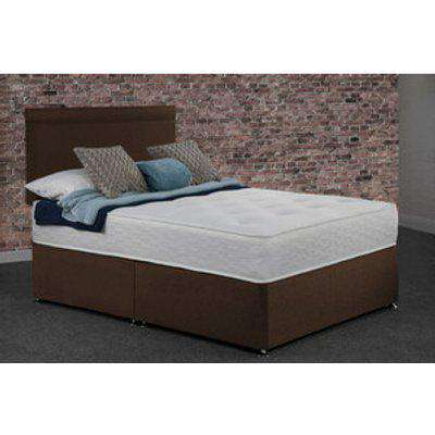 Creedy Non Storage Divan Bed with Mattress - Brown / Double