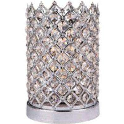 Crystal Cross Table Lamp - Silver
