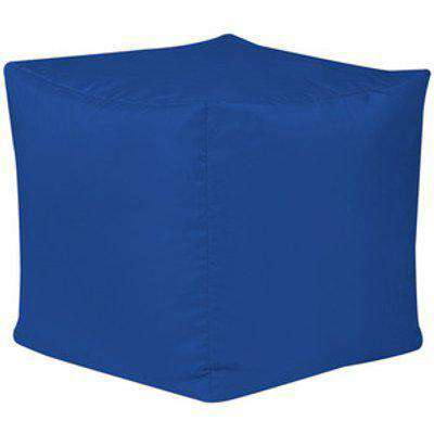 Cube Indoor and Outdoor Bean Bag Footstool - Blue