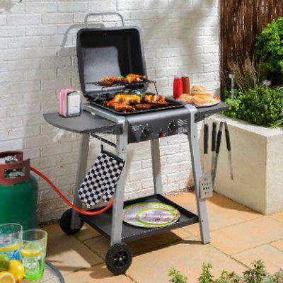 Darwin Two Burner Gas BBQ Grill - Black