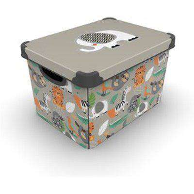 Decorated Storage Box With Lid 22 L - Wildlife