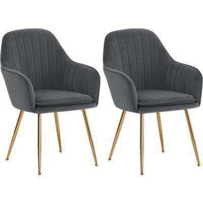 Dining Accent Chair Set Of 2 - Grey