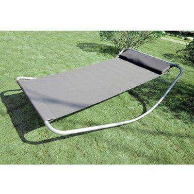 Double Garden Patio Relaxing Day Bed - Grey / 130cm