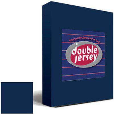 Double Jersey Fitted Bedsheet Navy  - Navy / Queen
