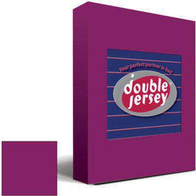 Double Jersey Fitted Bedsheet Single - Aubergine
