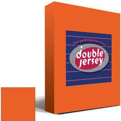 Double Jersey Fitted Bedsheet Single - Orange