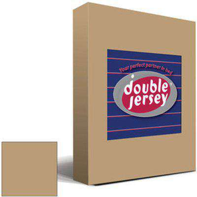 Double Jersey Fitted Bedsheet Single - Cappuccino