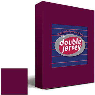 Double Jersey Fitted Bedsheet Single - Burgundy