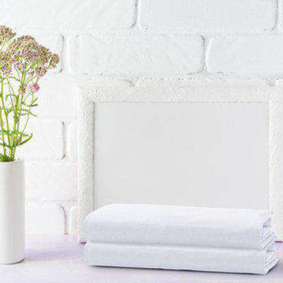 Double Pack Flannel Fleece Fitted Bed Sheet - White