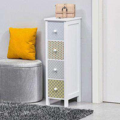 4 Drawer Dresser Slim Storage Cabinet - Multi-colored