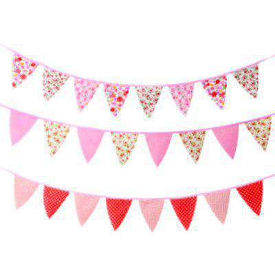 Eight Flag Floral Bunting