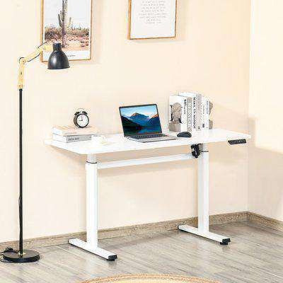 Electric Height Adjustable Standing Desk - White