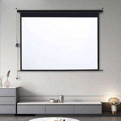Electric Motorized Projector Screen - Black / 100 Inches