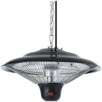 Electric Patio Hanging Heater - Black
