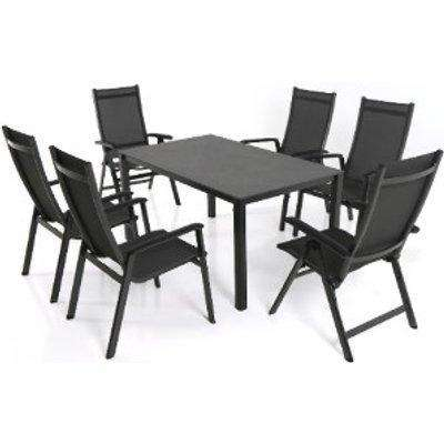 Elements Six Seater Garden Dining Set - Anthracite