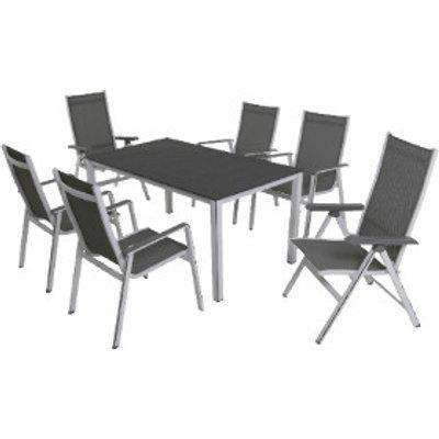 Elements Six Seater Garden Dining Set - Silver