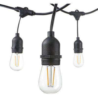 Ener-J LED Filament Festoon String Light Kit 10.2m - Black