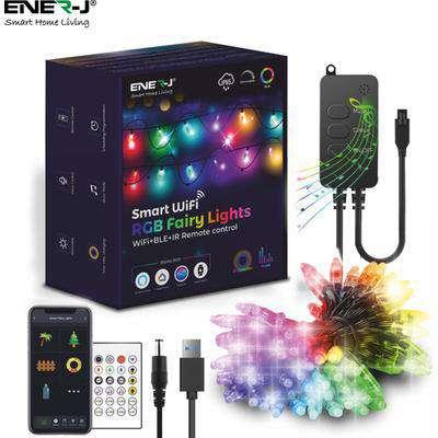 Ener-J Smart WiFi RGB Fairy Lights - Black