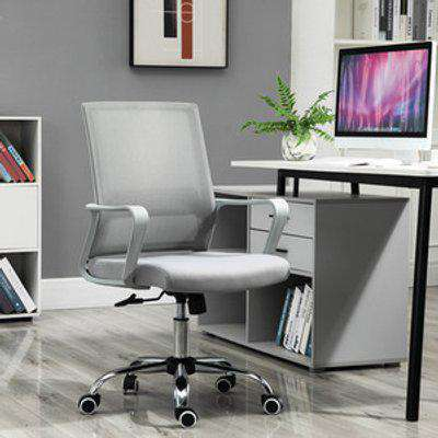Ergonomic Office Chair with Adjustable Height  - Grey