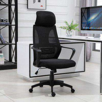 Ergonomic Office Chair With Wheel - Black
