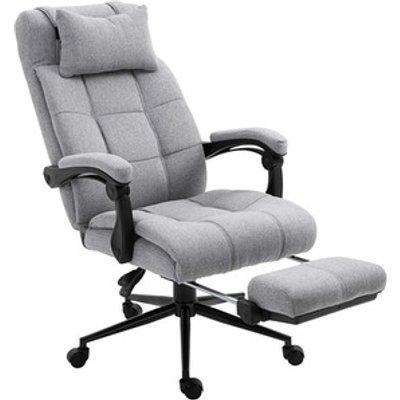 Ergonomic Reclining Office Chair - Grey