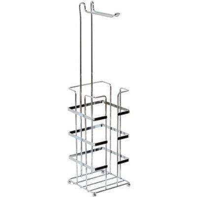 Esquire Wire Freestanding Toilet Roll Holder Combo Chrome - Chrome