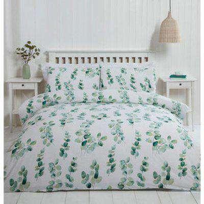 Eucalyptus Duvet Cover and Pillowcase Set - Green / King