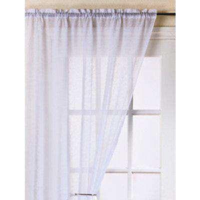 Fiji Single Voile Panel Curtain - White / 122cm