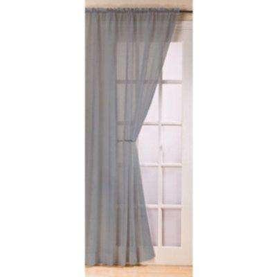 Fiji Single Voile Panel Curtain - Silver / 122cm