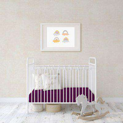 Flannel Fleece Baby Fitted Cot Crib Bed Sheets 2 Pack - Wine Red / Junior