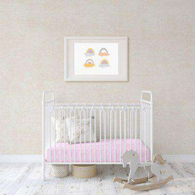 Flannel Fleece Baby Fitted Cot Crib Bed Sheets 2 Pack - Pink  / Small Single