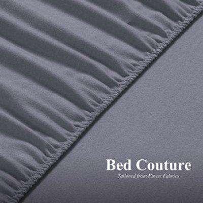 Flannel Fleece Fitted Bed Sheet Queen - Winter Grey