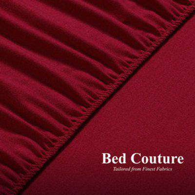 Flannel Fleece Fitted Bed Sheet Queen - Red