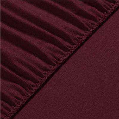 Flannel Fleece Fitted Bed Sheet Queen - Chestnut