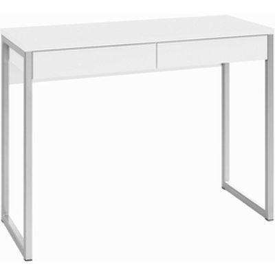 Focus Plus Desk Two Drawers  - White High Gloss