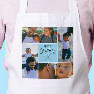 Four Photo Apron - Happy Father's Day