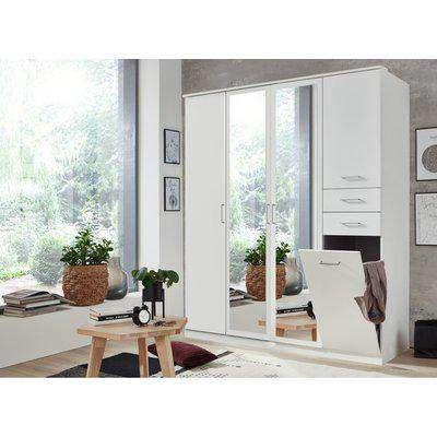 Frankfurt 4 Door Wardrobe - White