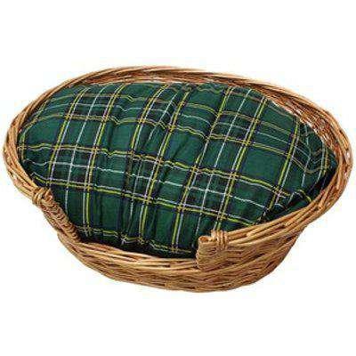 Full Buff Wicker Small Pet Bed Basket