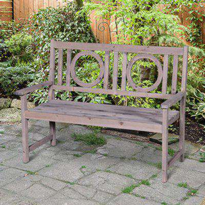 2 Seater Garden Bench - Grey