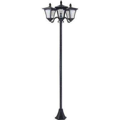 Garden Solar Light with Base Bollard Lamp - Black