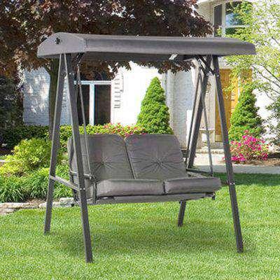 2 Seater Garden Swing Chair - Grey