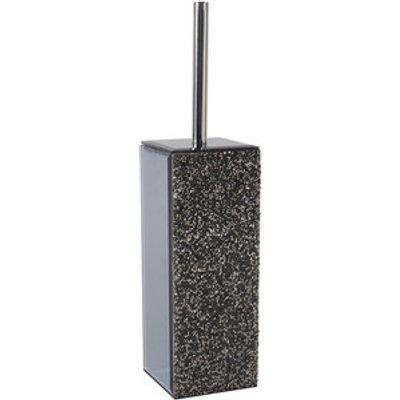 Glamour Sparkle Toilet Brush Holder - Dark Grey