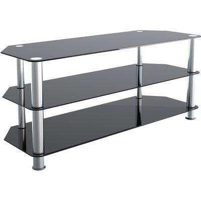Glass TV Stand  - Black