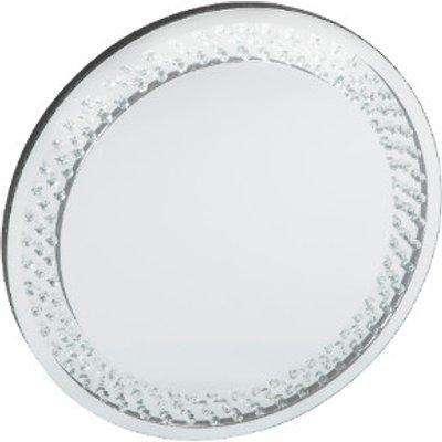Glitz Clear Jewelled Round Mirror