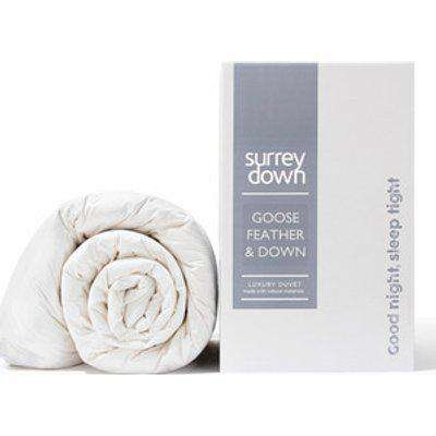 Goose Feather and Down 10.5tog Duvet - White / 230cm / Super King size